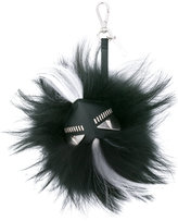 Fendi feather trim face keyring