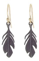 Annette Ferdinandsen Small Oxidized Sterling Feathers