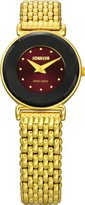 Jowissa Women's J3.028.S Elegance Gold PVD Maroon Dial Watch