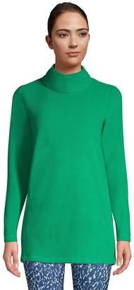 Lands' End Women's Brushed Fleece Mockneck Tunic