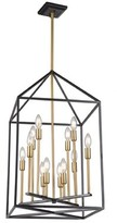Bronx Spies 12 - Light Lantern Rectangle Chandelier Ivy