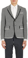 Thom Browne Men's High-Armhole Frayed-Edge Wool Three-Button Sportcoat