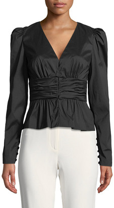 Tracy Reese Shirred Cummerbund Jacket