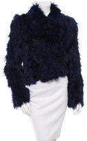 Tom Ford Leather-Trimmed Alpaca Jacket