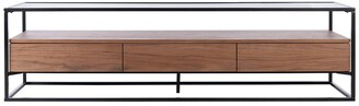Safavieh Couture Lollita Glass And Wood Tv Stand