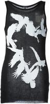Ann Demeulemeester bird print tank - men - Cotton/Lyocell - XXS
