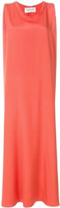 Valentino boxy fit sleeveless evening dress
