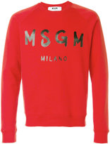 MSGM long sleeved T-shirt - men - Cotton - S