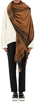 Denis Colomb Women's Lincoln Plaid Cashmere Flannel Scarf-DARK GREY