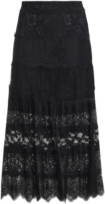 McQ Paneled Chantilly And Leavers Lace Midi Skirt