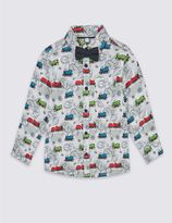 Marks and Spencer Pure Cotton Thomas & FriendsTM Shirt with Bow Tie (1-6 Years)