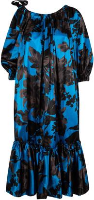 Dries Van Noten Floral Print Long Dress