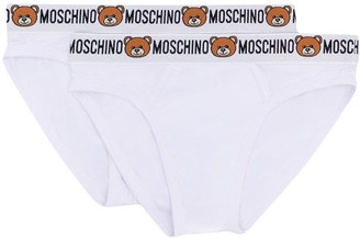 Moschino Bear And Logo Band Briefs