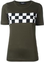 DSQUARED2 checkboard chest detail T-shirt - women - Cotton - XS