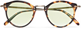 Oliver Peoples OP-505 Round-Frame Tortoiseshell Acetate and Gold-Tone Sunglasses