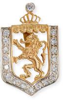 Turner & Tatler Lion en Rampant Shield Charm with Diamonds