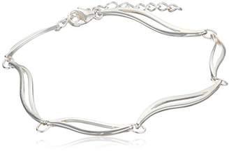 Camilla And Marc Elements Silver Linked Leaves Sterling Silver Bracelet Length of 17.5 cm + 3 cm Extender