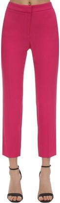 Alexander McQueen Straight Leg Viscose Blend Crop Pants