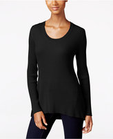 Style&Co. Style & Co Ribbed Scoop-Neck Sweater, Only at Macy's