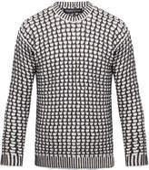 Pringle Charcoal Macrowaffle Merino Wool and Cashmere-Blend Sweater
