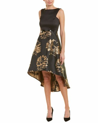 Donna Ricco Women's Tafetta and Brocade High Low Dress