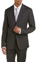 Moschino Wool-blend Suit With Flat Front Pant.