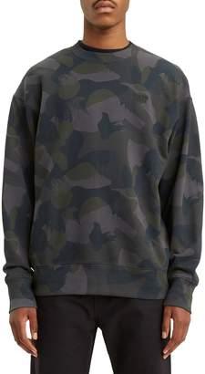 Levi's Authentic Camouflage-Print Cotton Sweatshirt