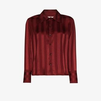 Saint Laurent Striped Silk Shirt