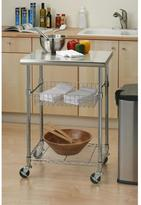 Seville Classics 24 in. W x 20 in. D Stainless Steel Kitchen Worktable Cart