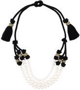 Lanvin triple string of faux pearls necklace