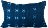 The Well Appointed House Indigo Mudcloth Lumbar Pillow