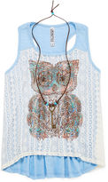 Knitworks Knit Works Lace-Front Tank Top with Necklace - Girls 7-16 and Plus