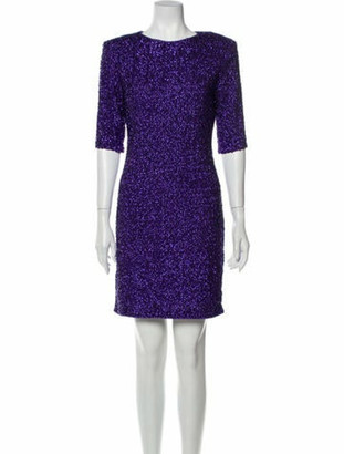 Alice + Olivia Crew Neck Mini Dress Purple
