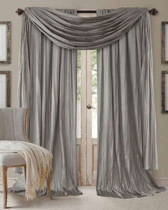 "Elrene Athena 108"" Faux Silk Window Curtain & Scarf Set"