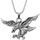 FINE JEWELRY Mens Stainless Steel Eagle Pendant Necklace