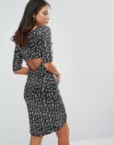Jessica Wright Wrap Front Monochrome Sequin Dress