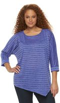 Apt. 9 Plus Size Asymmetrical Dolman Top