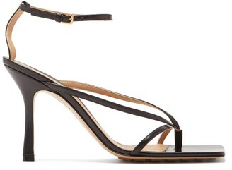 Bottega Veneta Squared Open-toe Leather Sandals - Black