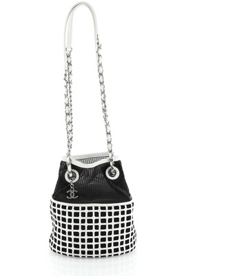 Chanel Chain Bucket Bag Mesh and Leather Medium