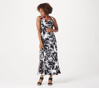 Dennis Basso Regular Sleeveless Knit Maxi Dress