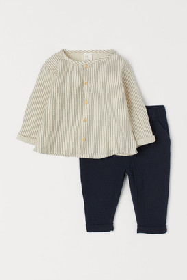 H&M Shirt and Pants - Beige