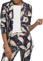 Nic+Zoe Printed Cotton-Blend Blazer