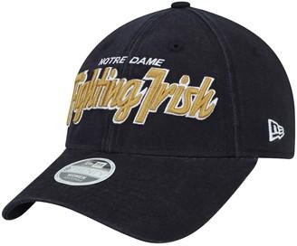 New Era Women's Navy Notre Dame Fighting Irish Retroscript 9TWENTY Adjustable Hat