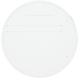 MM6 MAISON MARGIELA White Vegan Leather Circle Card Holder