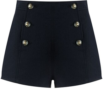 Etro Double-Buttoned High-Waist Shorts