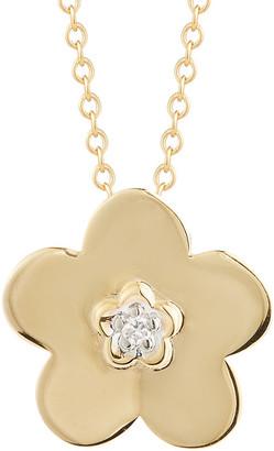 I. Reiss 14K 0.02 Ct. Tw. Diamond Pendant Necklace