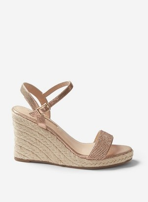 Dorothy Perkins Womens Wide Fit Rose Gold 'Raa