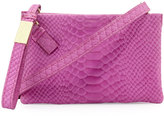 Foley + Corinna Cache Snake-Embossed Leather Crossbody Bag, Fuchsia