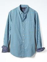 Banana Republic Grant-Fit Custom Wash Multi Ginham Shirt