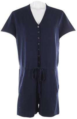 Allude Blue Cotton Jumpsuit for Women